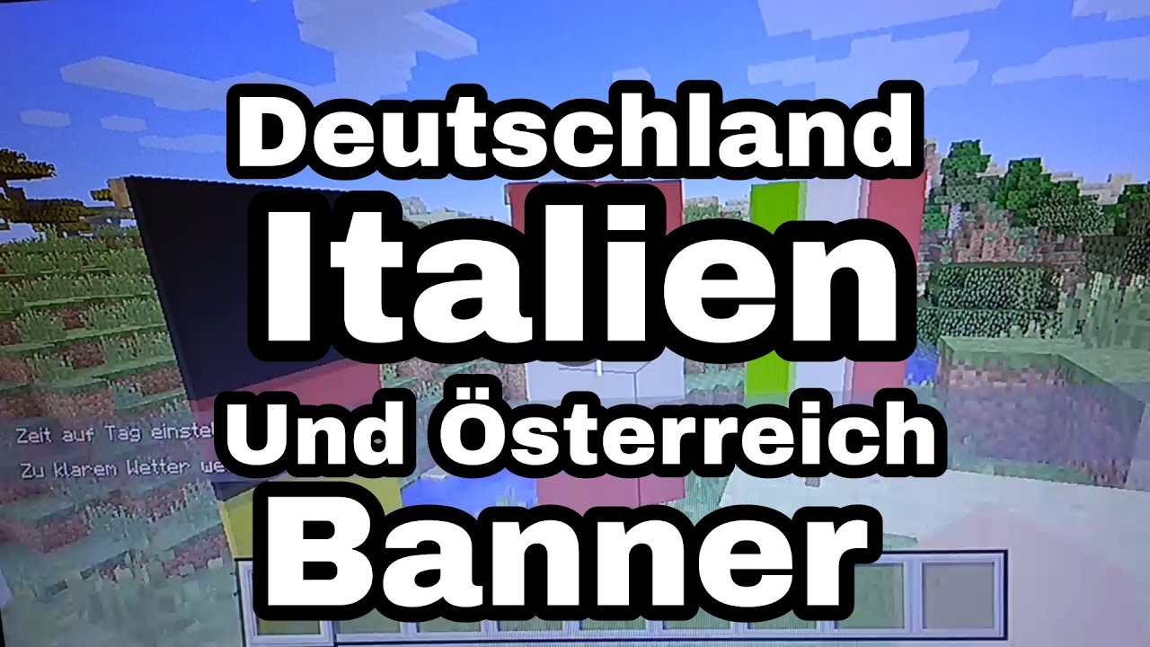 In Minecraft Deutschland Italien Und Österreich Banner Erstellen - Minecraft server status banner erstellen