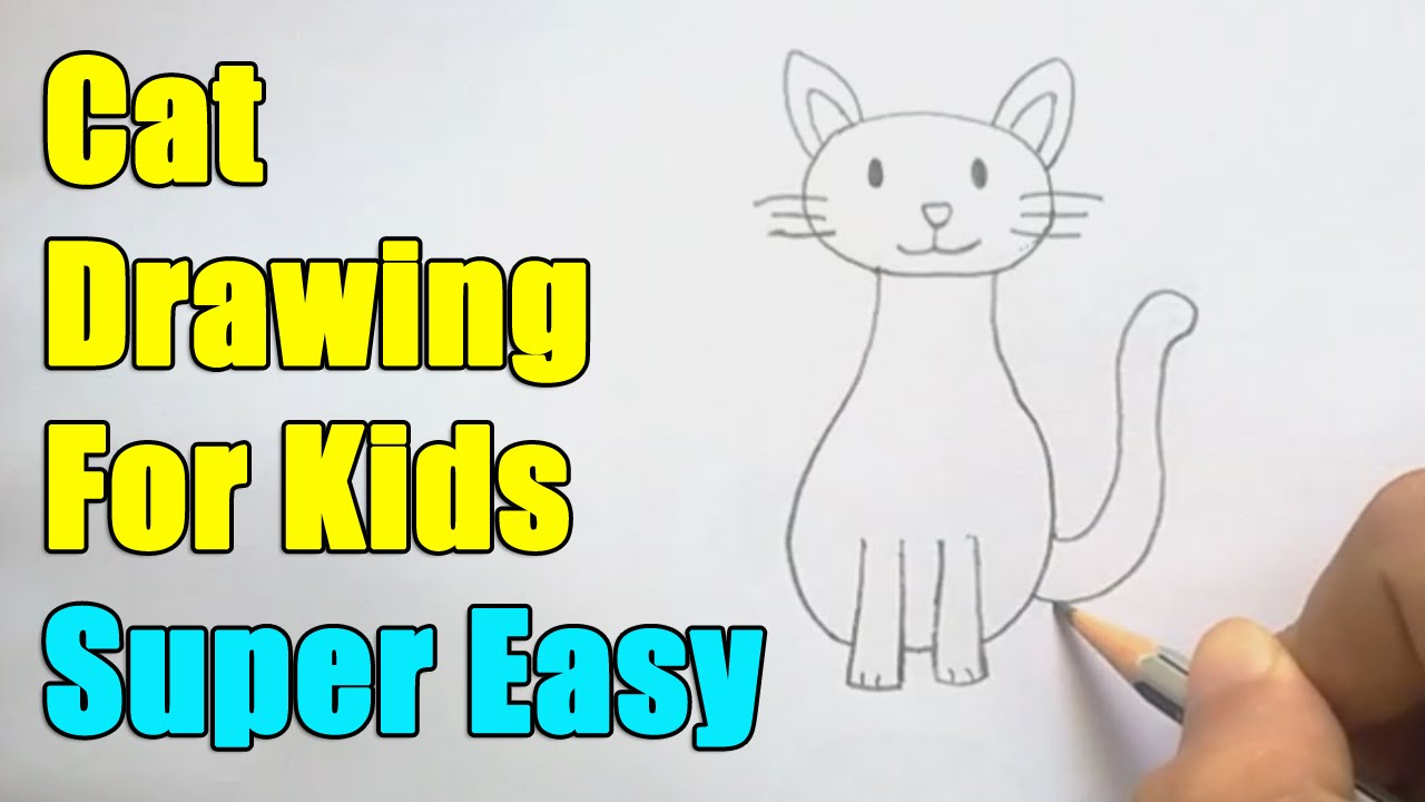 how to draw a cat for kids youtube - Small Drawings For Kids
