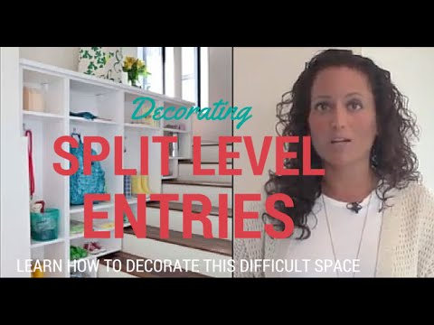 Decorating A Split Level Foyer Youtube