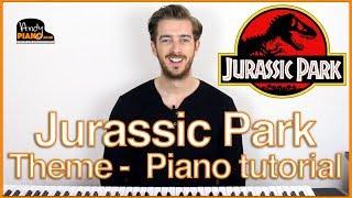 EASY Jurassic Park Piano Tutorial - John Williams : Jurassic World