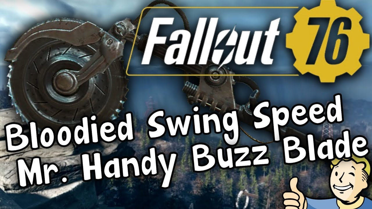 Fallout 76 - Bloodied Swing Speed BUZZ BLADE Showcase - BEYOND OVERPOWERED