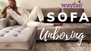Wayfair Reversible Sectional Unboxing/Assembly | Wil Mikahson