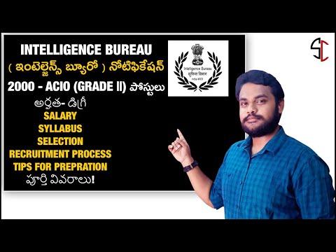 Intelligence Bureau ACIO Notification 2020 In Telugu | ACIO Recruitment Syllabus Salary In Telugu |