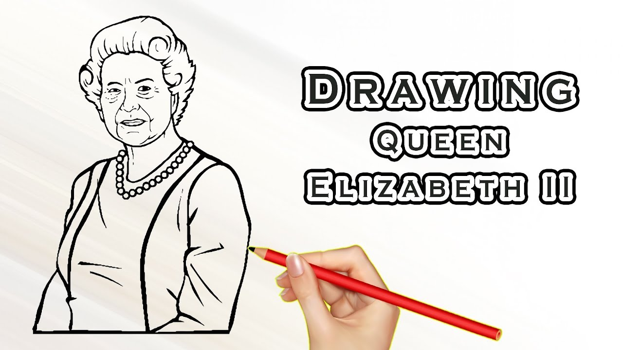 Drawing Queen Elizabeth Ii Drawing Famous People Draw Easy For