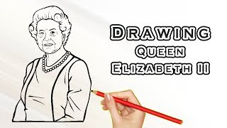Watch How To Draw Queen Elizabeth Lessons And Draw By Yourself