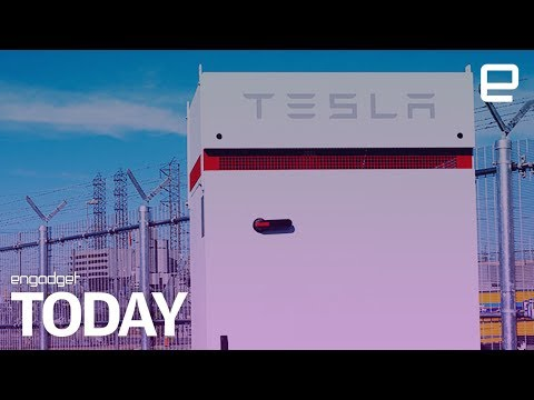 Tesla is building the world's largest backup battery array | Engadget Today