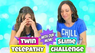 Twin Telepathy Slime Challenge with Our Mom!