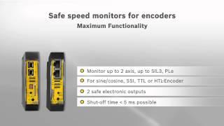Safe speed monitoring by Bihl+Wiedemann