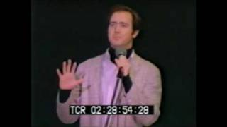 Andy Kaufman cries on stage