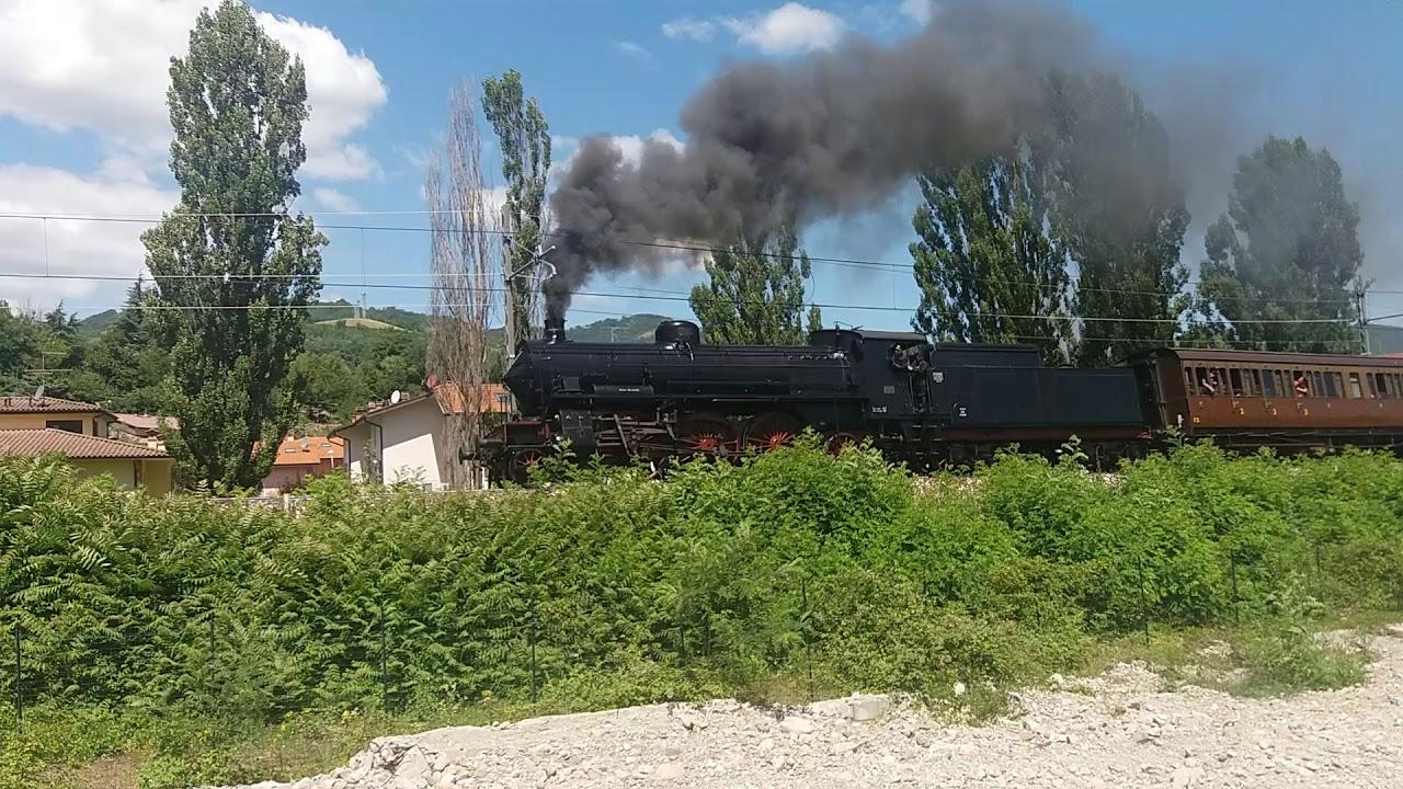 Treno a vapore storico linea Bologna Porretta