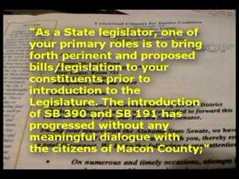 Letter to AL Senator Myron C. Penn