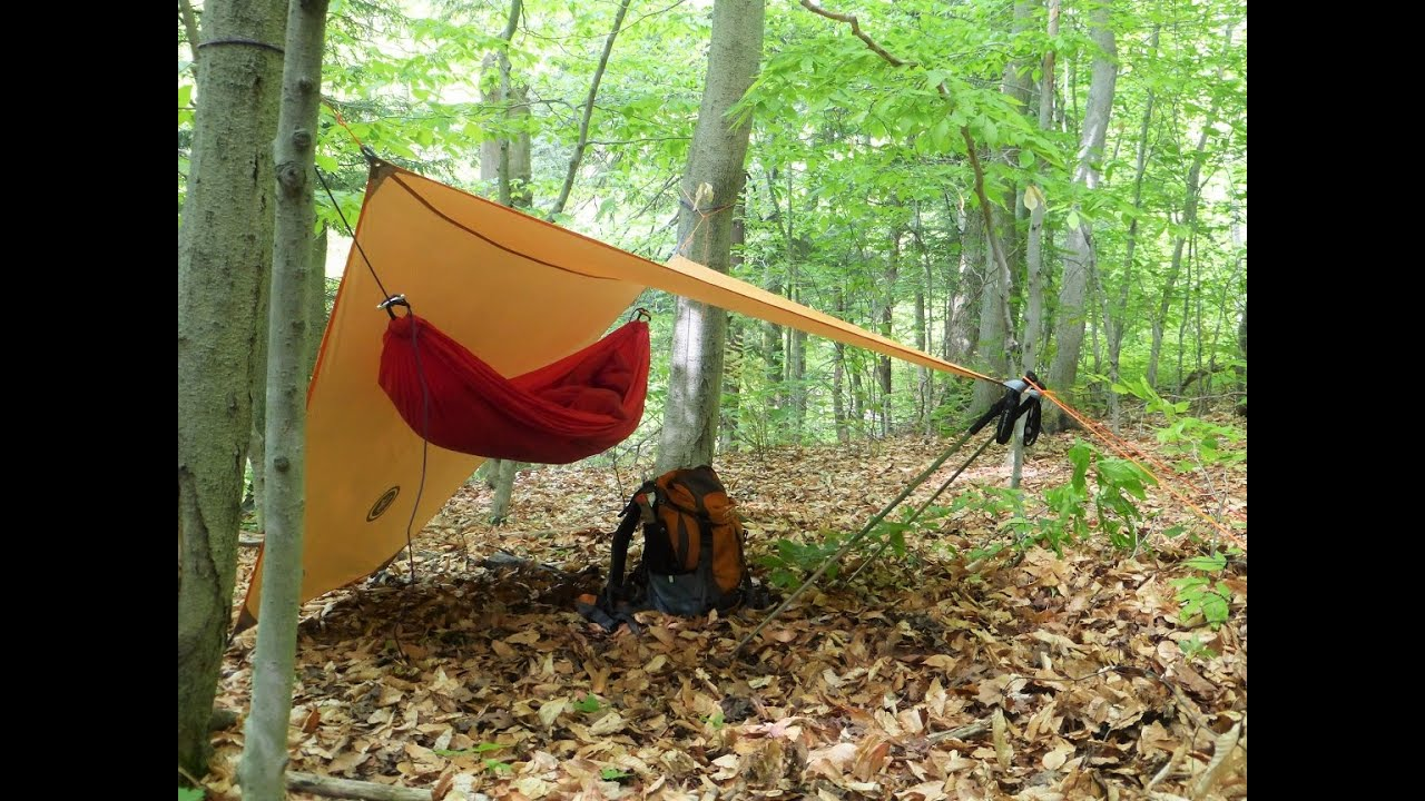 Using The UST Hex Tarp As A Hammock Shelter YouTube