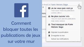 Comment bloquer les invitations et les notifications à des jeux Facebook