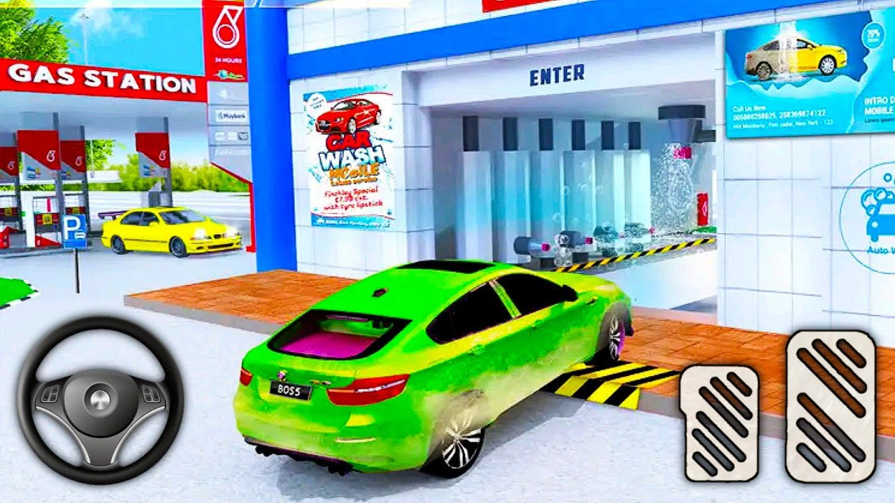 Gas Station Car Driving - Impossible Parking Simulator - Android Gameplay