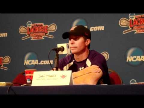 Maryland Post-Game Press Conference: NCAA Men's Lacrosse Championship