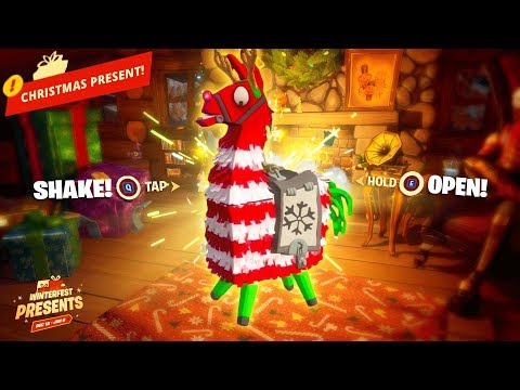 *OPEN* NEW BONUS CHRISTMAS PRESENTS In Fortnite! (Winterfest)