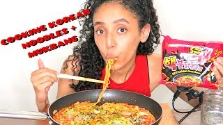 HOW I COOK SAMYANG KOREAN SPICY NOODLES + MUKBANG