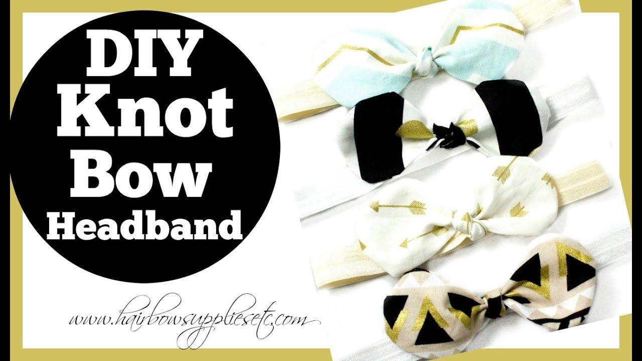 Fabric Bow Knot Headband Tutorial - Hairbow Supplies, Etc. - YouTube