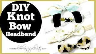 fabric bow knot headband tutorial hairbow supplies etc