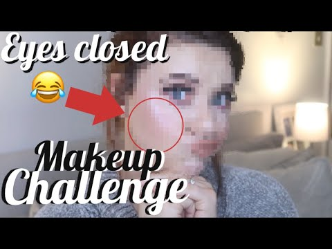 EYES CLOSED MAKEUP CHALLENGE