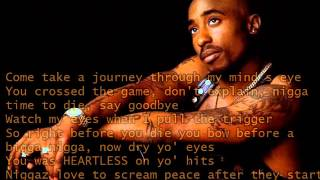 2Pac - The Death of A True Thug (HQ + LYRICS)