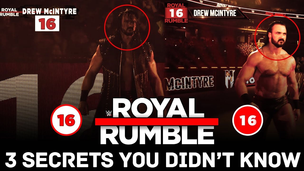 3 Surprising WWE ROYAL RUMBLE Secrets You Didn't Know