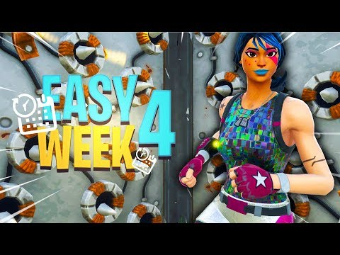 ALL Week 4 Challenges Easy (Trap Kill, Ammo Box Locations, Treasure)
