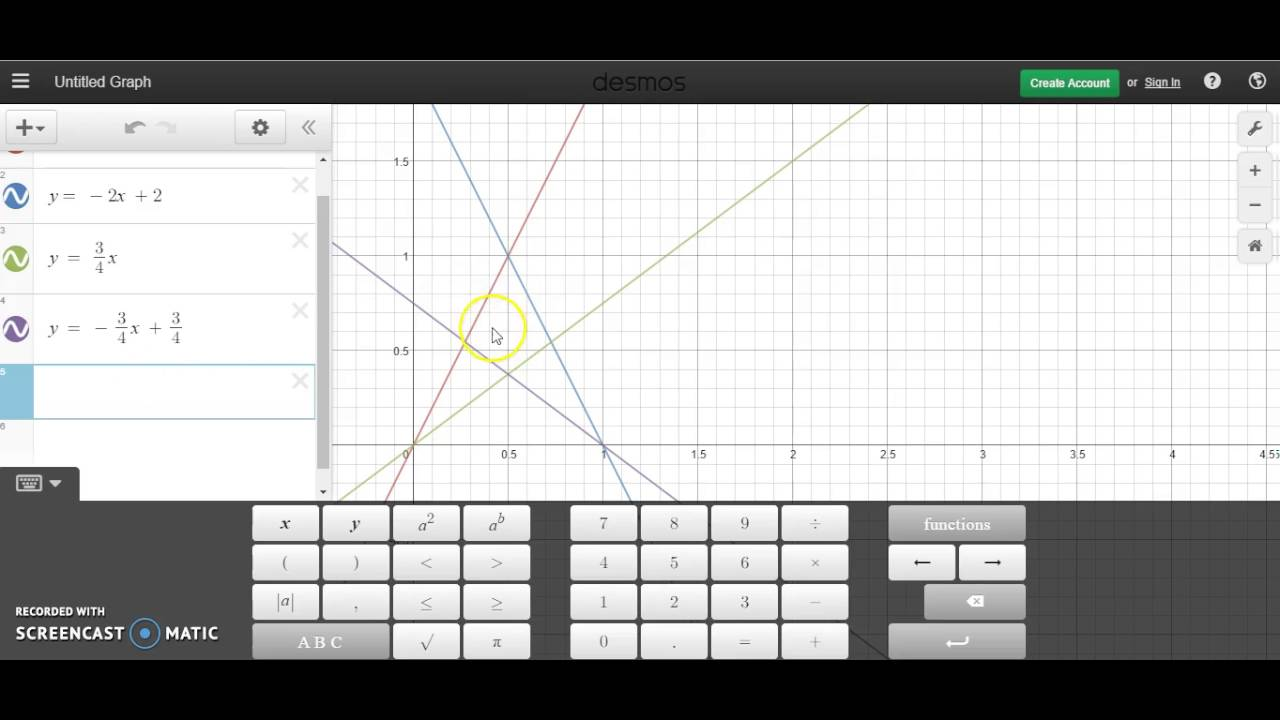 Drawing Lines Using Equations : Drawing an image using linear equations on desmos
