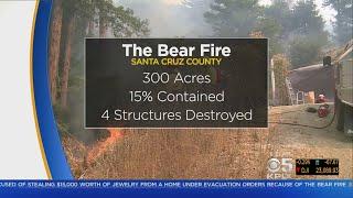 Bear Fire Scorches 300 Acres, Destroys 4 Structures Near Boulder Creek