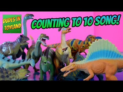 Toy dinosaur song for children Counting to 10 videos for toddlers