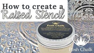 Posh Chalk Stencil-Turkish Delight 8.3x12\u201d