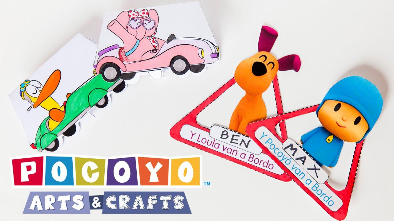 Pocoyo Arts & Crafts: DIY Car Projects! [Ep 1]
