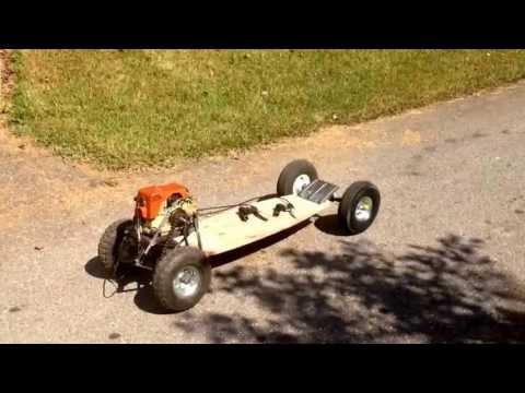 Homemade Weed Eater RC Car | Test Run | Doovi
