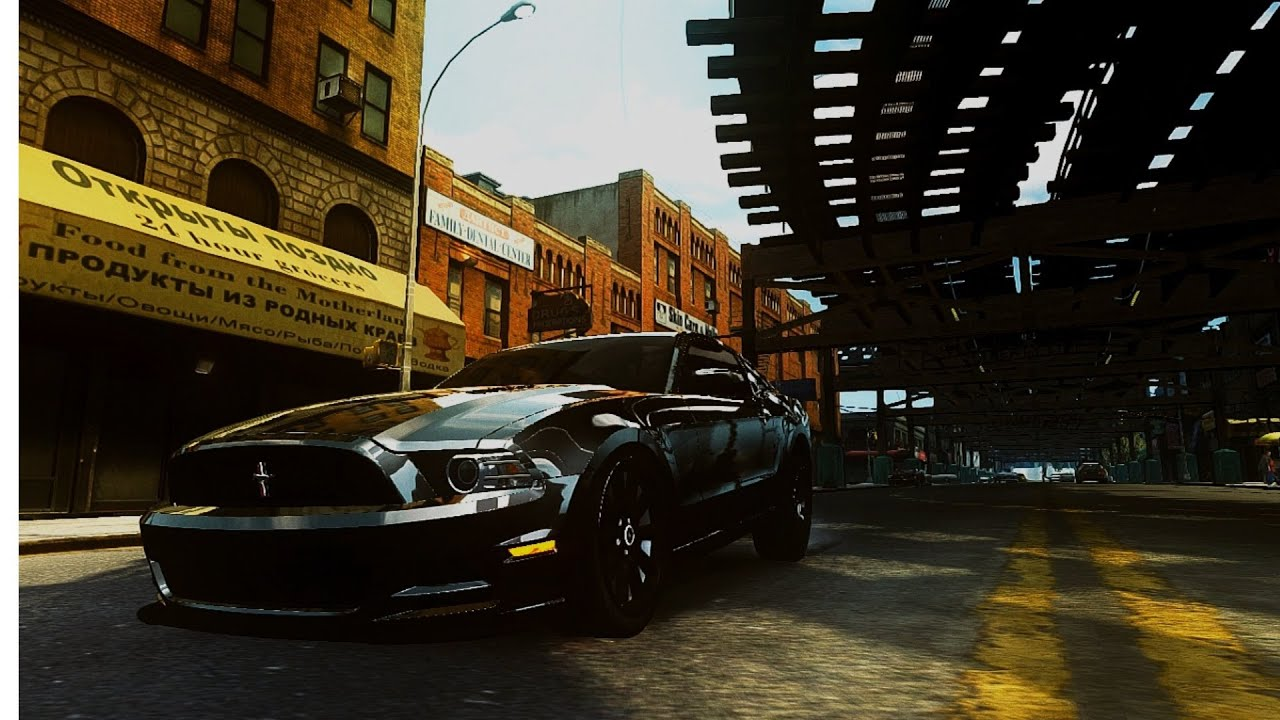 Ford Mustang GTA IV Graphic Mod Max Settings Full HD - YouTube
