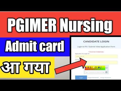 PGIMER Nursing Admit