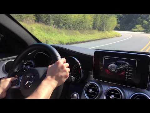 Mercedes C43 AMG Acelerando na Estrada De Campos Do Jordão Test Drive Onboard