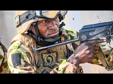 Nigerian Army, Moroccan And Cameroonian Soldiers Simulated Raid During Exercise Flintlock 2020