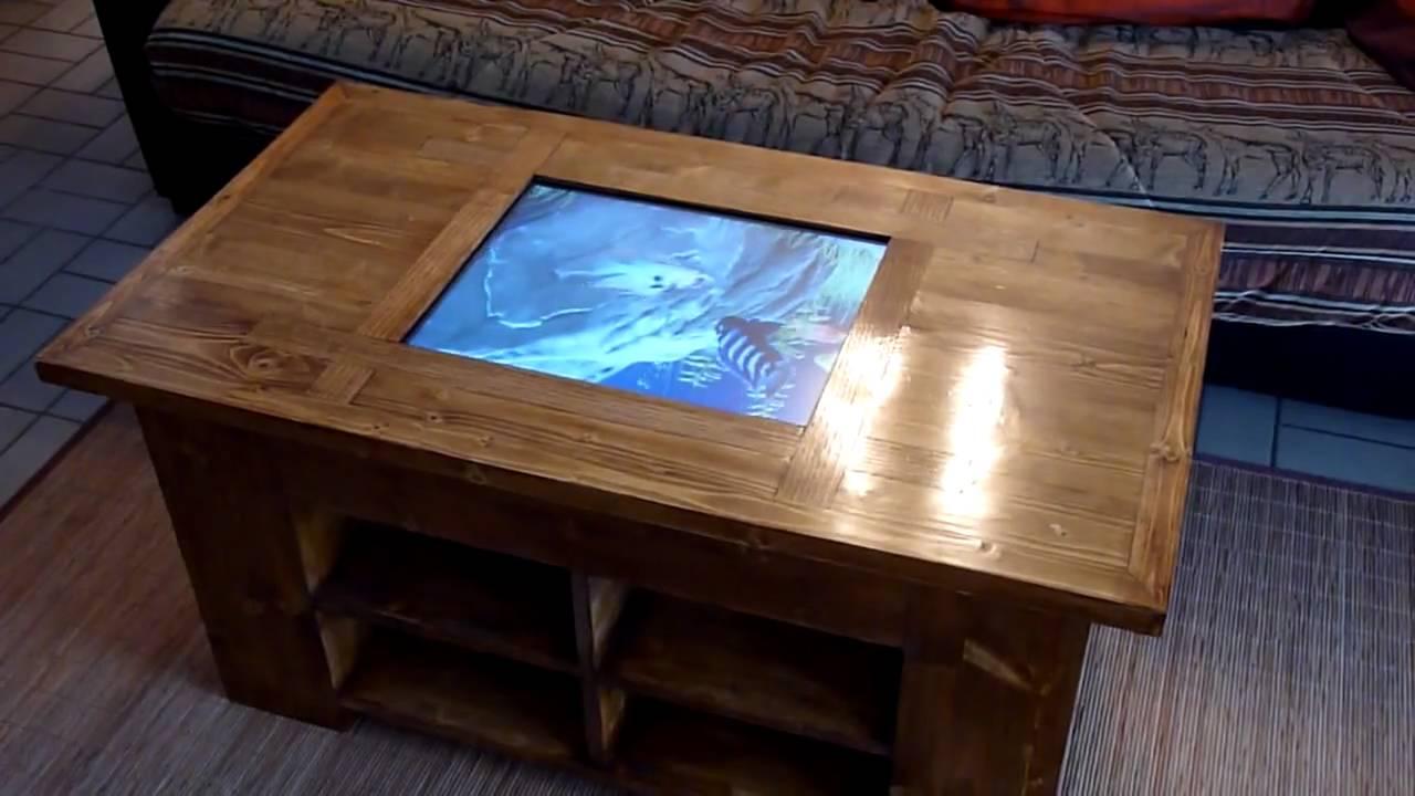 Table basse de salon tactile  YouTube