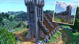 minecraft church medieval village build tutorial