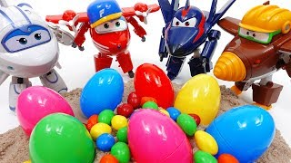 Repeat youtube video Super Wings 2, Feed a Hungry Crocodile & Open Surprise Eggs