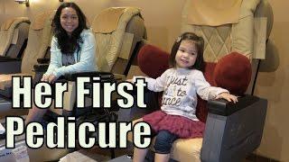 Her First Real Mani Pedi! - January 12, 2016 - ItsJudysLife Vlogs