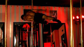 "Male Pole Dancer Josiah ""Badazz"" Grant  