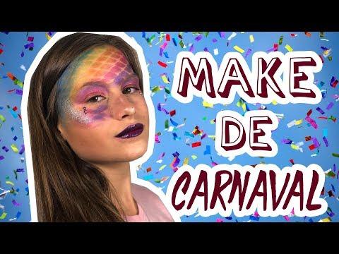 Make de Carnaval  Efeito Sereia - RAFA GOMES