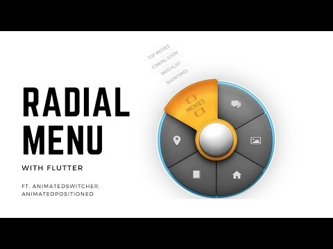 Flutter - Animations - Radial Menu with AnimatedSwitcher