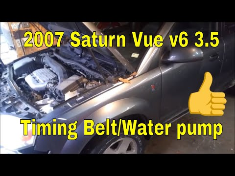 2007 Saturn Vue 3.5 v6 (honda engine) timing belt and water pump replace