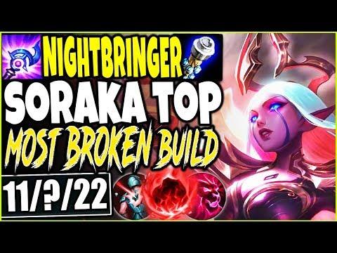 TOP LANE NIGHTBRINGER SORAKA SKIN 🔥 MOST BROKEN SORAKA SEASON 10 BUILD 🔥 LoL TOP Soraka s10 Gameplay