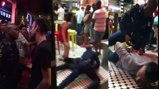COP BODY SLAMMING DRUNK MAN TO GROUND   NEW ORLEANS RESTAURANT(COP BODY SLAMMING DRUNK MAN TO GROUND NEW ORLEANS RESTAURANT JUNE 30 2016., 2016-06-30T15:28:12.000Z)
