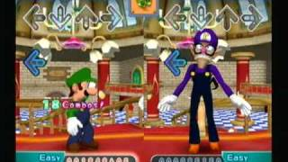 Waluigi dance-off DDR: Mario Mix