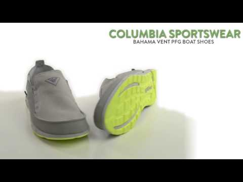 Columbia Sportswear Bahama Vent PFG Boat Shoes - Leather-Canvas, Slip-Ons (For Men)