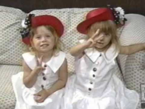 Mary Kate and Ashley Olsen Twins as kids - YouTube
